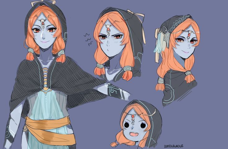 """doodleladle: """" I wanted to draw Midna, so I dicked around with some younger Midna designs """""""