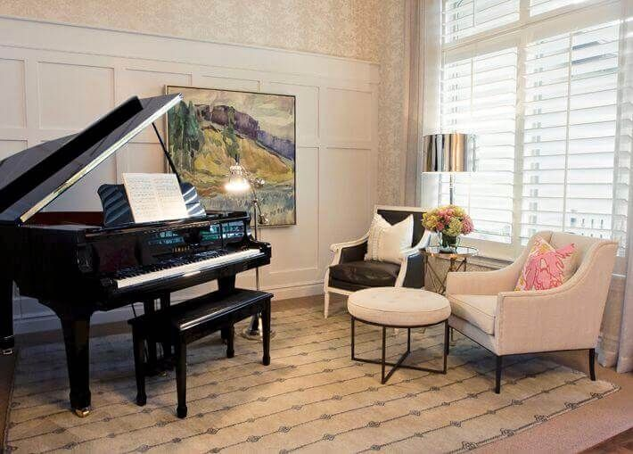 How To Decorate A Room With A Piano In Piano Room Design Piano Room Decor Piano Living Rooms