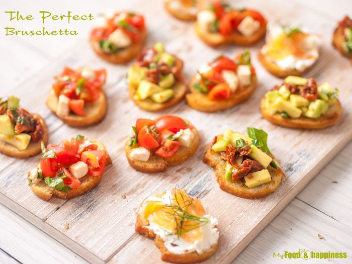Crispy and thin Bruschettas, infused with oregano and olive oil and additional topping ideas.