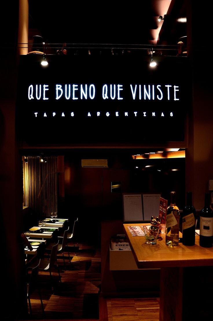 QUE BUENO QUE VINISTE. TAPAS ARGENTINAS.  CARRER DE LA CIUTAT Nº10, BARCELONA.  93 318 46 76