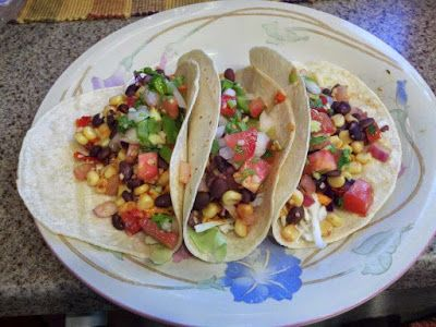 Black Bean Tacos with Roasted Peppers and Onions - Recipep | Quick Recipes | Easy Recipe , Cooking