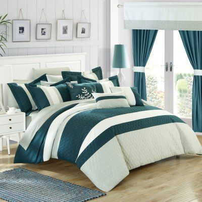 Lorena 24 Piece Complete Bedroom Set by Chic Home Teal - CS3027-HE