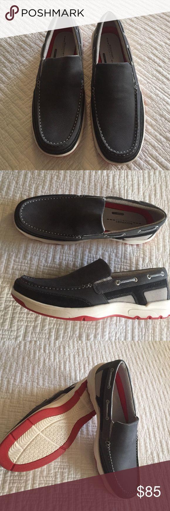Men's Rockport blue boat shoes Men's Rockport blue boat shoes. New never worn. Still in original box. 11.5 Rockport Shoes Boat Shoes
