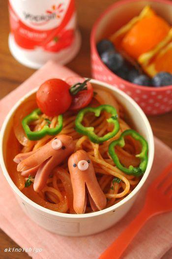 タコウインナーとナポリタンのお弁当 by akinoichigoさん | レシピ ...