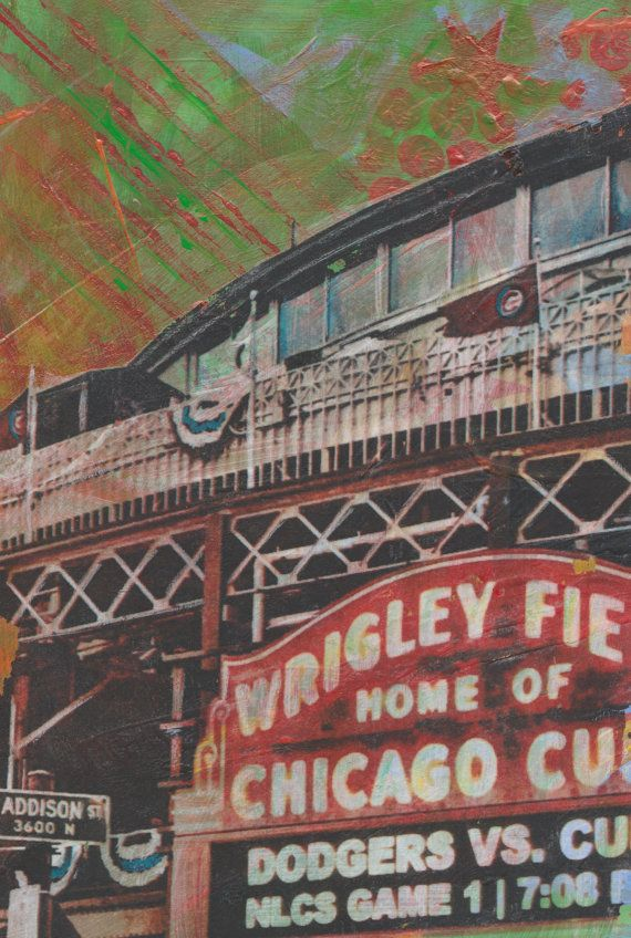 Wrigley Field World Series Playoffs Marquee Cubs By Chicagoscapes Chicago  Cubs Art Chicago Cubs Gifts Part 83