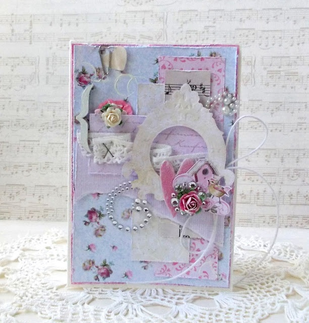 Shabby card for DT Papirdesign made by Tanya Privalova
