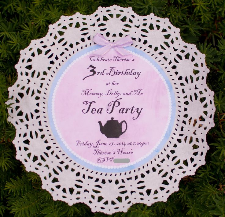 171 best images about TeA TiMe – Little Girl Tea Party Invitations