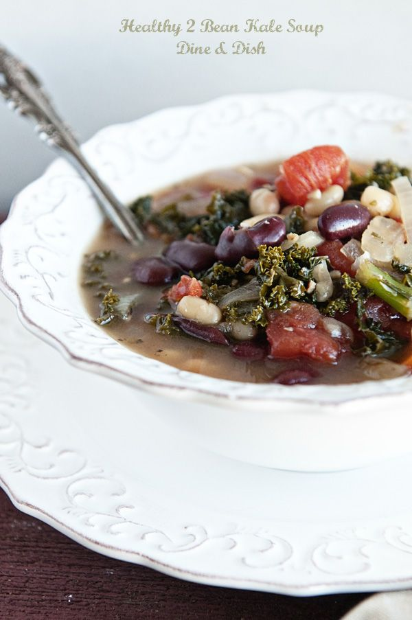 Healthiness {Recipe: Healthy 2 Bean Kale Soup} - Dine and Dish