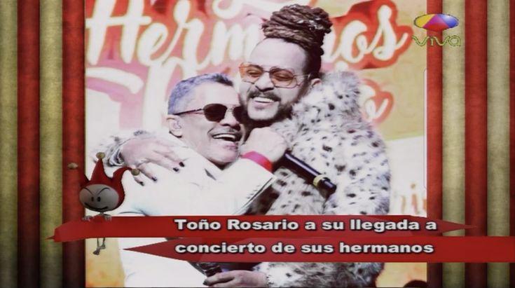 Toño Rosario Y Su Llegada Al Concierto De Sus Hermanos