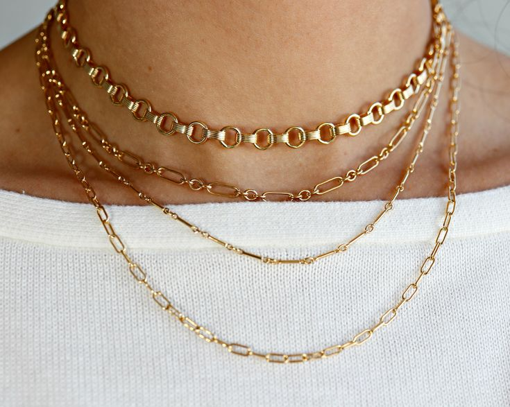 Art Deco Necklace Thick Gold Choker Gold Filled Thick Chain Choker Gold Choker Thick Chain Necklace Statement Chain Necklace