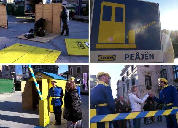 Ikea monta el primer peaje donde se cobra en vez de pagar - Dando Guerrilla
