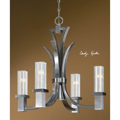 Uttermost glacio 4 1 light chandelier 21250 off coupon