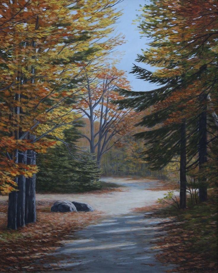 """Autumn in Killarney Park"" by Linda Mullola Original Acrylic 20 x 16 www.lindamullola.com"