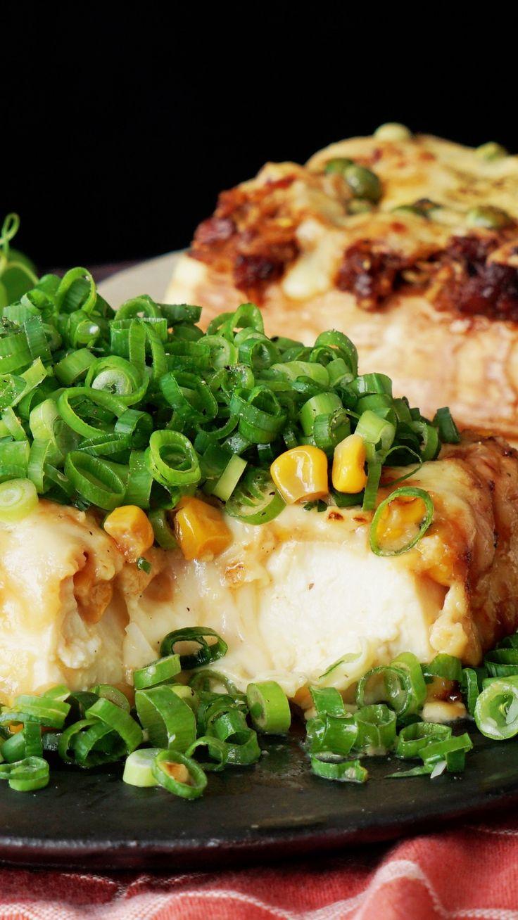 麻婆焼き豆腐とネギマヨ焼き豆腐 ~ レシピ   Tastemade
