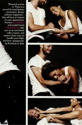 Jamie Dornan and Eva Mendes for CK Jeans in Glamour Magazine 2009