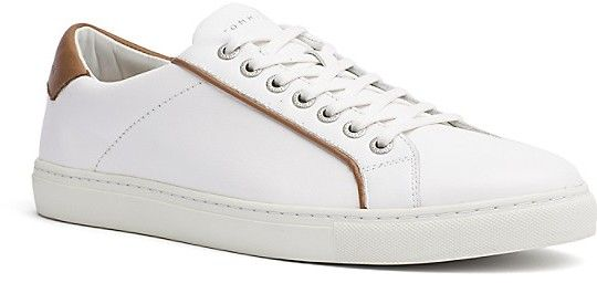 Tommy Hilfiger Final Sale-White Leather Court Shoe
