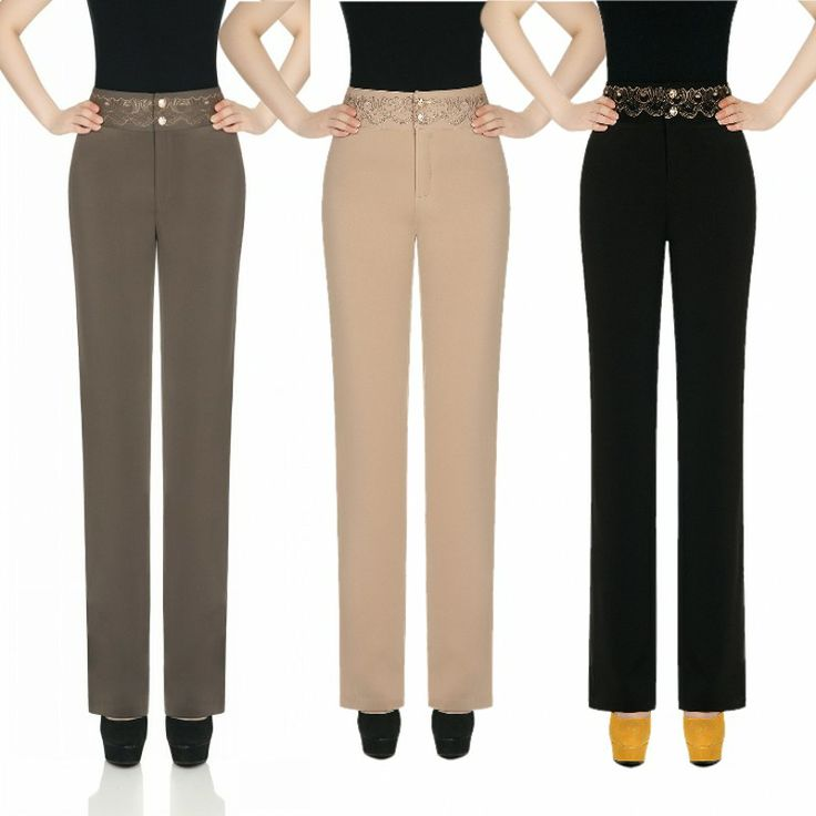 Spring and autumn high waist straight formal pants trousers easy care pants slim elegant western-style trousers work wear $37.00