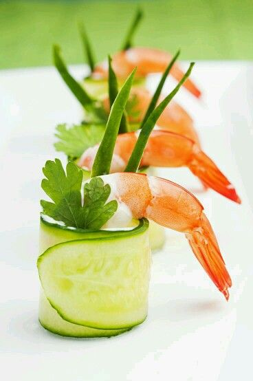 Prawn and Cucumber Wrap
