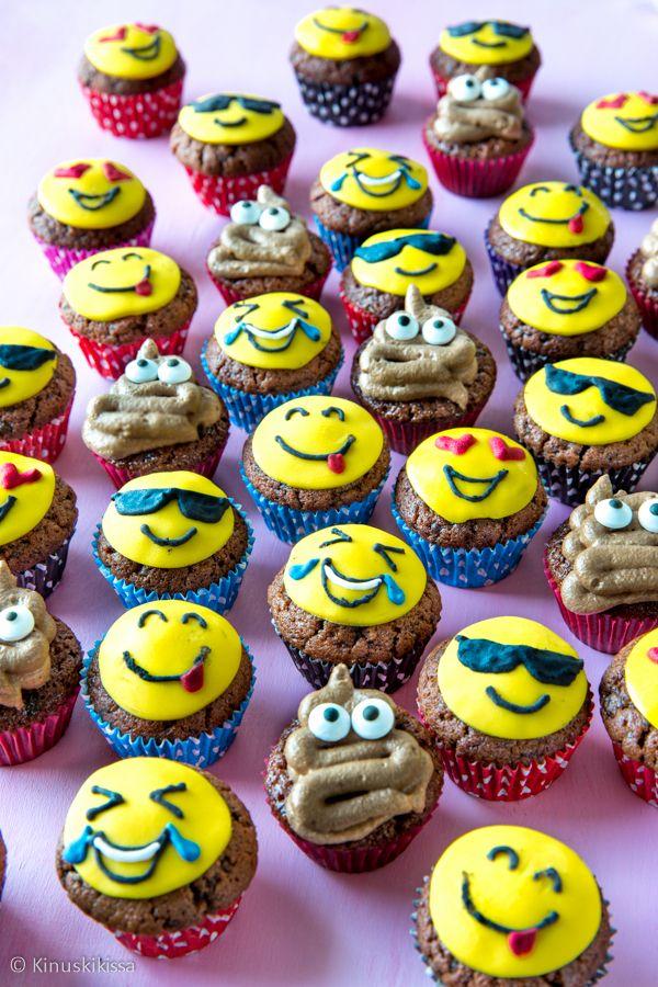 Minimuffinssien aiheena ovat tällä kertaa emojit.