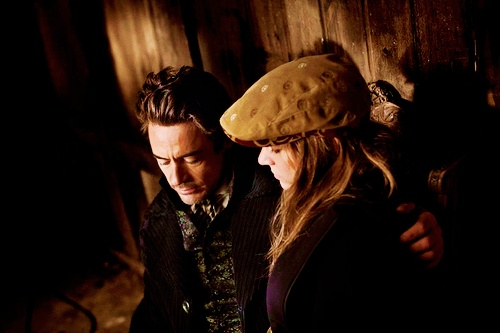 "Robert Downey Jr. and Susan Downey on the set of ""Sherlock Holmes,"" by Paolo Pellegrin (2008). I love this photo! So beautiful! And it looks like they are praying. Haha."