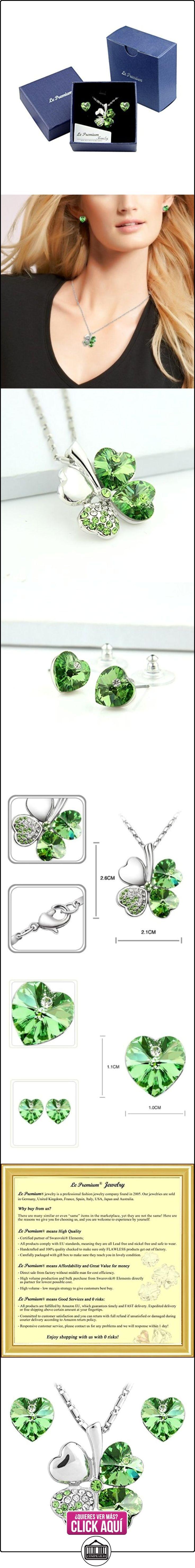 Le Premium® joyería Set colgante Trébol collar + Stud Pendientes en forma de corazón de SWAROVSKI peridoto cristales verdes  ✿ Joyas para mujer - Las mejores ofertas ✿ ▬► Ver oferta: https://comprar.io/goto/B00A3BPVI2