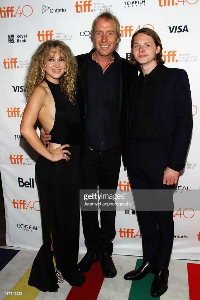 Actors Juno Temple, Rhys Ifans, and Jack Kilmer attend the 'Len And Company' premiere during the Toronto International Film Festival at Ryerson Theatre on September 11, 2015 in Toronto, Canada.