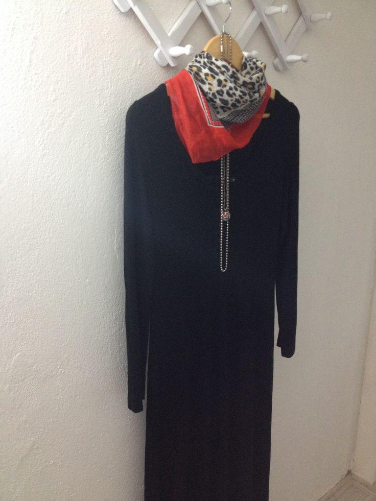 der kessel :)  siyah uzun maxi elbise