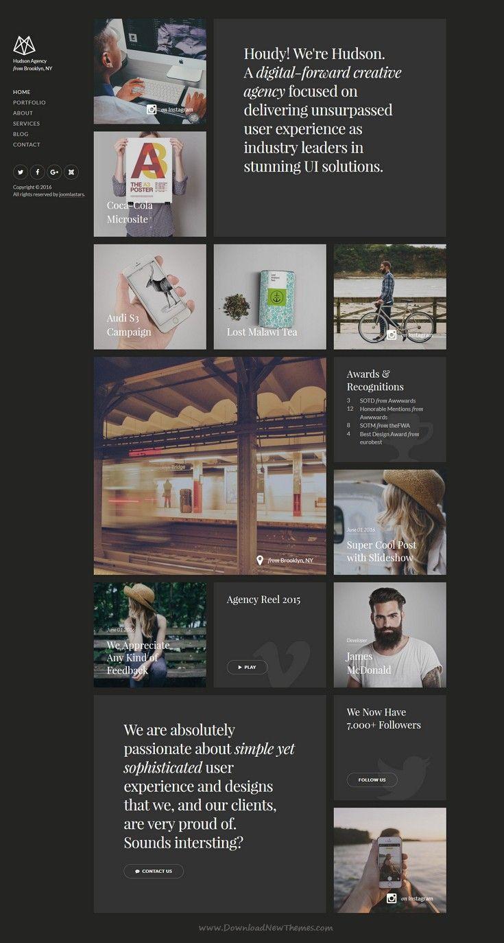 Hudson is creative premium responsive Joomla Template for