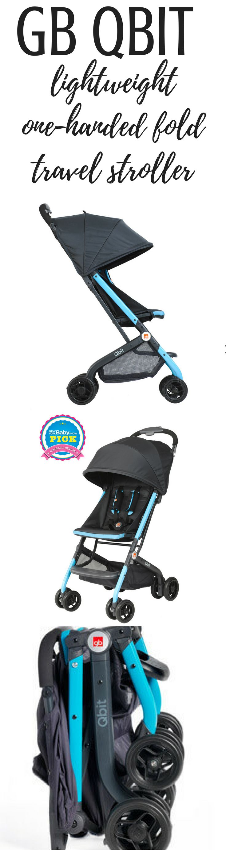 GB's Qbit - The Ultimate Lightweight Reclining Travel Stroller? This stroller has a one handed fold, stands upright while folded, isn't tippy.  Perfect travel stroller.  Read more on the blog!