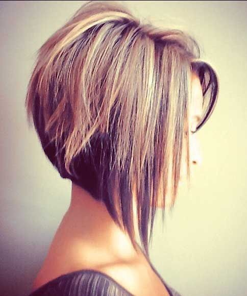 Inverted stacked bob....