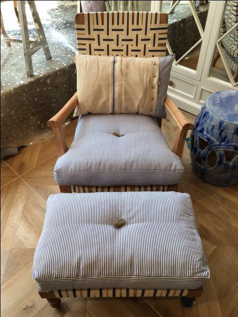 Fingerprint Ribbon Arm Chair And Ottoman By @bunakara