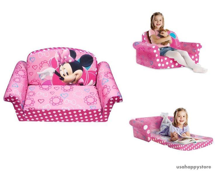 Kids Furniture Sofa Chair Bed Soft Plush Disney Minnies Toddler Lounge Seat  Pink #MarshmallowFurniture