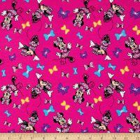 Disney Minnie Minnie's Best Bows Jersey Knit Pink