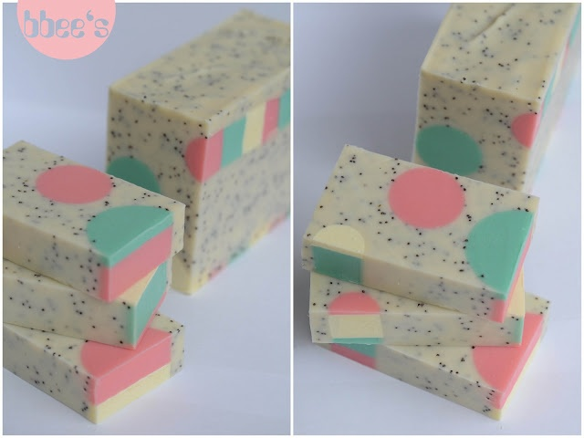 bbee´s soapsite: dotted soaps (German recipe)