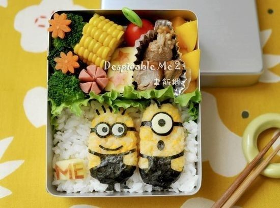 Minions Bento | Community Post: 25 Adorable Bento Boxes You Wish Your Mom Made
