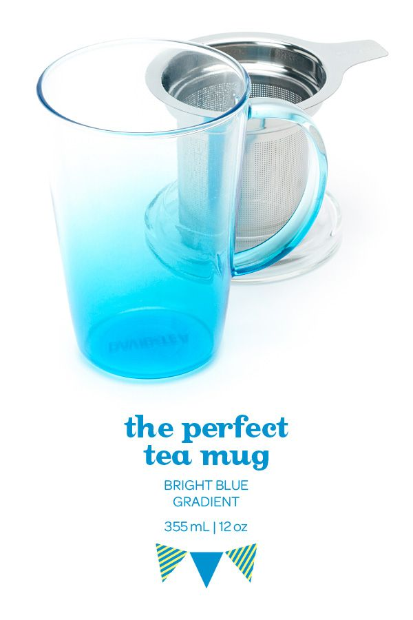 SUMMER 2014 - Make a statement with this blue ombré mug. Includes lid and infuser.
