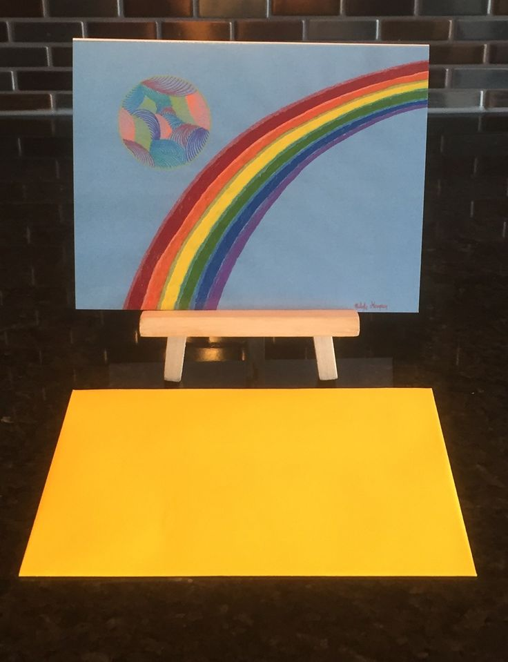 """""""Over the Rainbow"""" #BlankGreetingCard #MyEscapeArtDesigns #MelodyGermain #UniqueGreetingCards"""