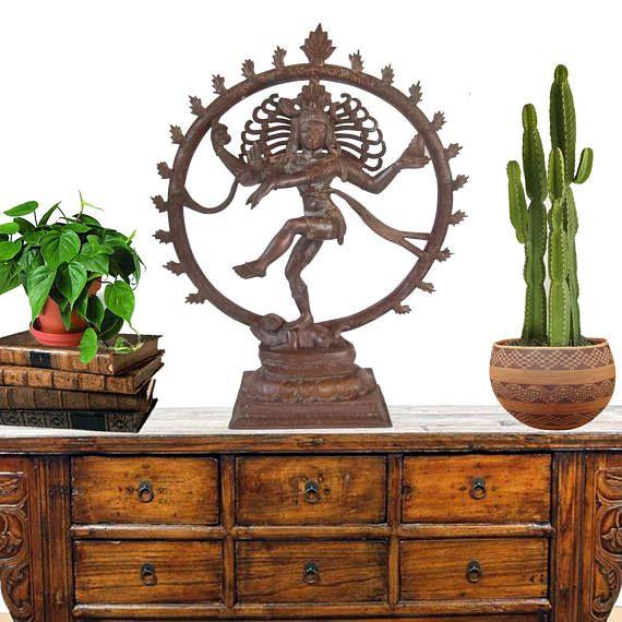 XL Cast Bronze Shiva Statue 13 Hindu God Deity Nataraja