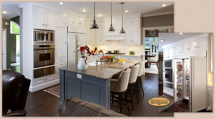 Cabinets: Showplace painted cabinetry creates a clean and inviting setting.