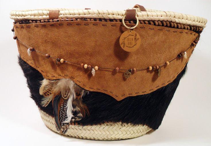 Boho shopping / beach bag Cognac brown   Ibiza Vibe