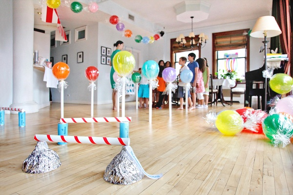 Candy store party idea/candy obstacle course