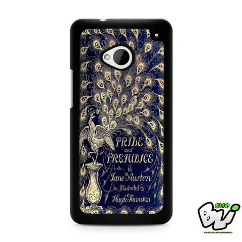 Book Blue Cover Jane Austen HTC G21,HTC ONE X,HTC ONE S,HTC M7,M8,M8 Mini,M9,M9 Plus,HTC Desire Case