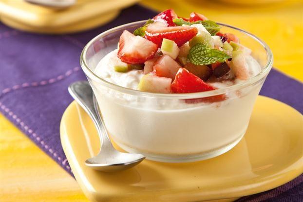 Mousse de Ricota y Frutas - Maru Botana