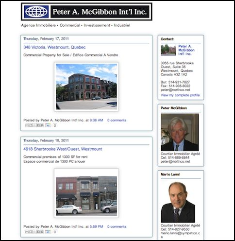 Website design - Montreal realtor