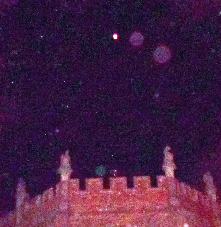 Orb Pro: A Line of Orbs Above the Gargoyles