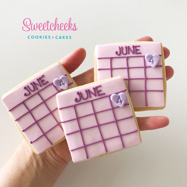 Save the Date / Baby Due Date announcement cookies by Sweetcheeks Cookies and Cakes. Purchase these cookies straight from our Food By Us online store!  Shipped Australia wide!