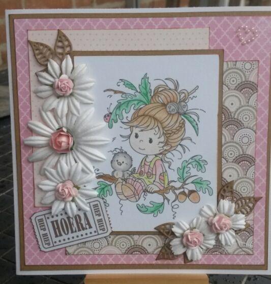 Wee stamp - Oak Tree Girl