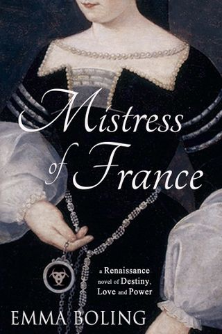 The cover was designed by Jenny Quinlan and is a portrait of the royal mistress Diane de Poitiers.