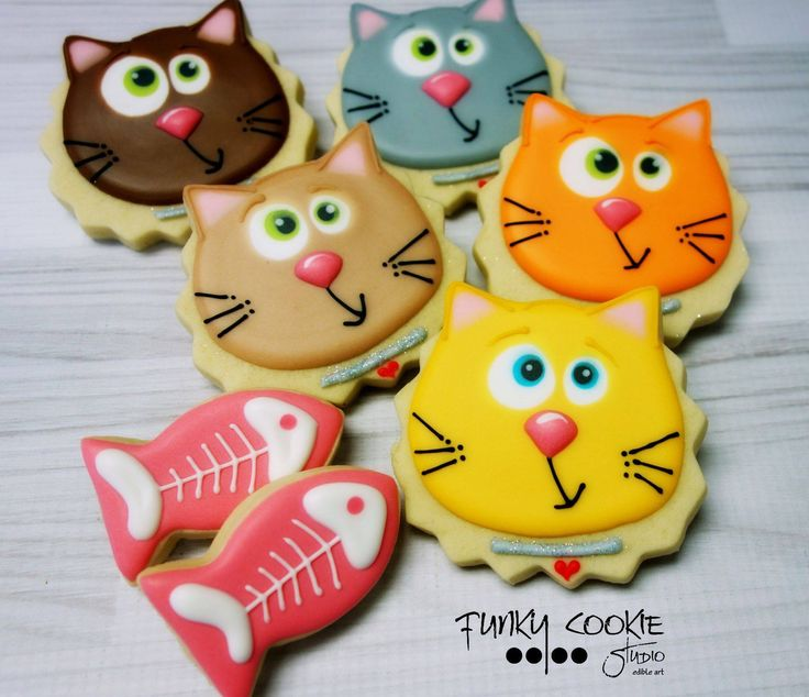 Cat cookies by Jill FCS                                                                                                                                                                                 More
