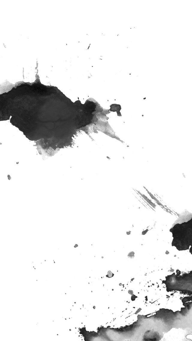 Minimal black white ink splash iphone phone wallpaper background lock screen